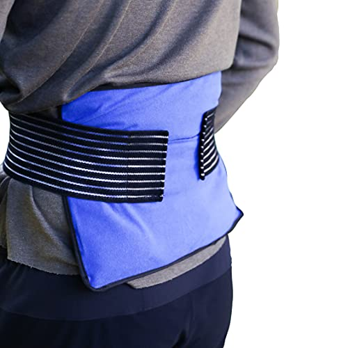Ice Pack with Straps - Hot and Cold Therapy Reusable Gel Packs Helps Alleviate Joint Pain, Muscle Soreness | Supports Injury Recovery, Back Pain Relief