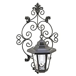 Solar Lantern Light, Scrollwork Outdoor Garden Lighting Solar Lantern Modern