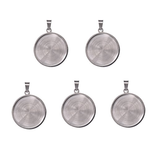 Stainless Steel Pendant Backs for Jewelry Making Kits Silver Pendant Trays 25x25mm 5pcs