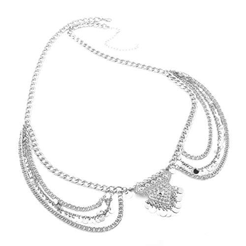 - Geerier Dangle Coin Belly Waist Chain Belt Gypsy Bohemian Dancing Tassel Body Jewelry With Paillette