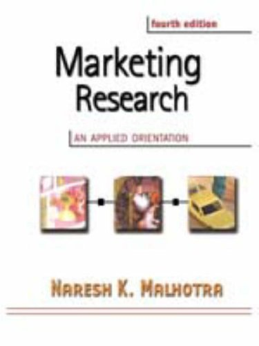 Marketing Research: An Applied Orientation with SPSS (4th Edition)