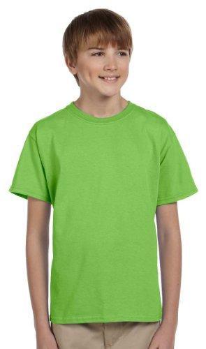 Youth Lime Green T-shirts (Gildan 2000B Youth 100% Cotton Tee - Lime - S)