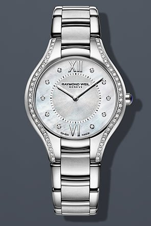 Raymond Weil Women's 'Noemia' Quartz Stainless Steel Dress Watch, Color:Silver-Toned (Model: 5132-STS-00985)