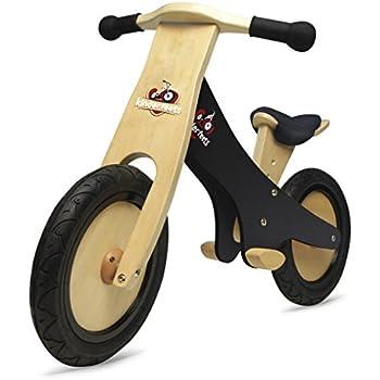 Kinderfeets Chalkboard Wooden Balance Bike, Classic Kids Training No Pedal Balance Bike, Black