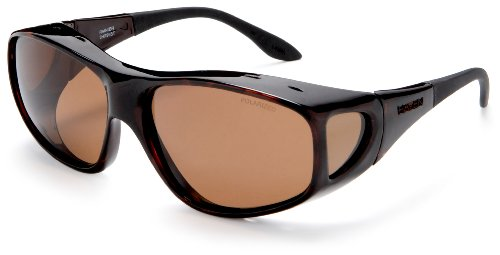 Haven Over-Prescription Sunwear Ranier Sunglasses,Brown Frame/Amber Lens,one ()
