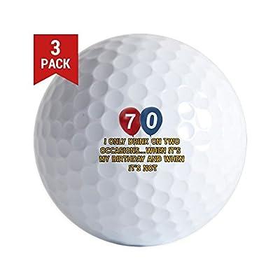 CafePress - 70 Year Old Birthday Designs - Golf Balls (3-Pack), Unique Printed Golf Balls
