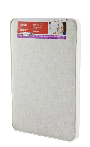 "Dream On Me 3"" Rounded Corner Playard Mattress, White/Brown"