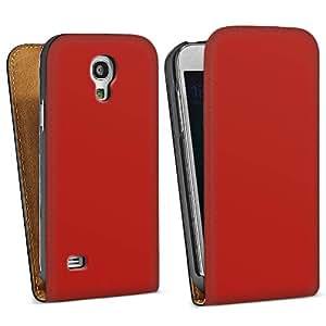 Diseño para Samsung Galaxy S4 Mini I9195 DesignTasche Downflip black - Karminrot