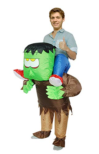 Ride on Monster Costume Inflatable Halloween Costumes Party Suit for Mens & Womens Adult Size -