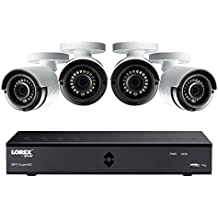 Lorex by FLIR 4MP Super HD 8-Channel Security DVR System with 1TB Pre-Installed HDD, Includes 4x Outdoor Night Vision Bullet Cameras