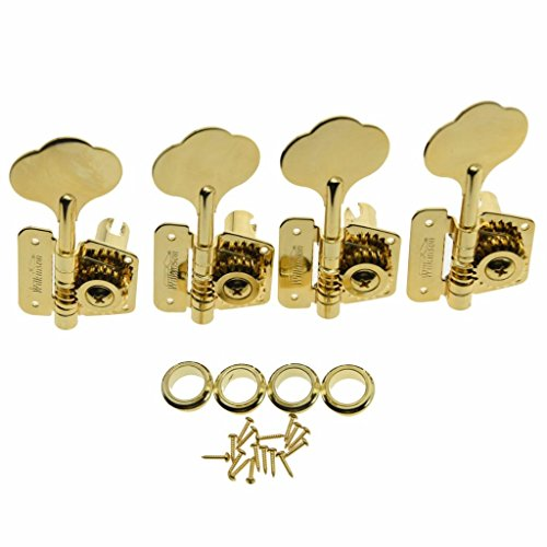 Wilkinson Gold Right Handed Vintage Bass Tuners Tuning Keys Machine Heads for Jazz J Bass Precision P Bass ()