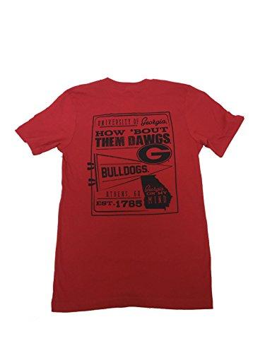 Georgia Bulldogs Pennant Jersey T-Shirt-Red-Medium