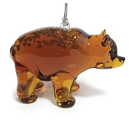 Grizzly Bear Ornament - Dynasty Gallery Glassdelights Grizzly Bear Glass Christmas Tree Ornament Animal Decoration New
