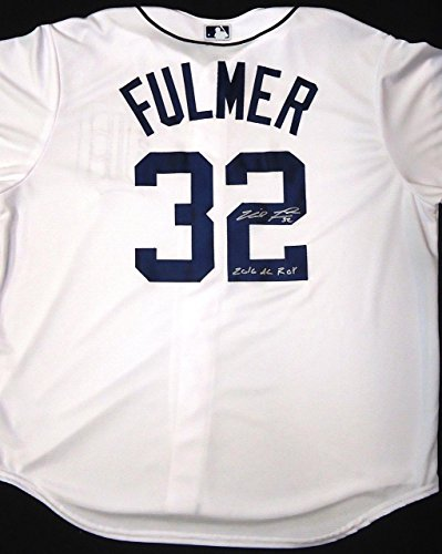 Detroit Tigers Authentic Home Jersey (Michael Fulmer Autographed Detroit Tigers Home Jersey Inscribed