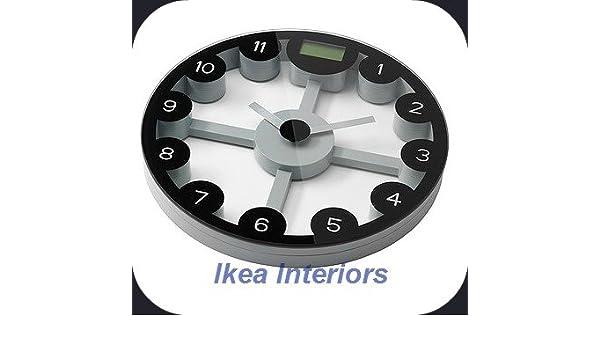 Anten IKEA báscula digital y reloj de pared: Amazon.es: Salud y cuidado personal