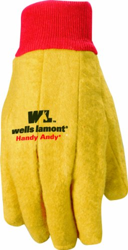 Wells Lamont Polyester and Cotton Chore Gloves, Standard Weight, One Size, 3 Pack (Chore Gloves)