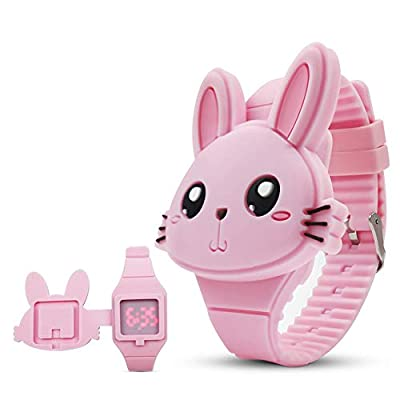 YSLON Kids Digital Watch,Cute Rabbit Shape,Girl Gifts. by jiahaoshun