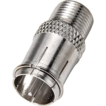 Steren 200-103-25 Tipo F Tipo F Plata adaptador de cable - Adaptador