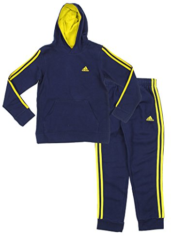 Adidas Youth Big Boys Game Time Hoodie And Pants Set, C Navy/ ()
