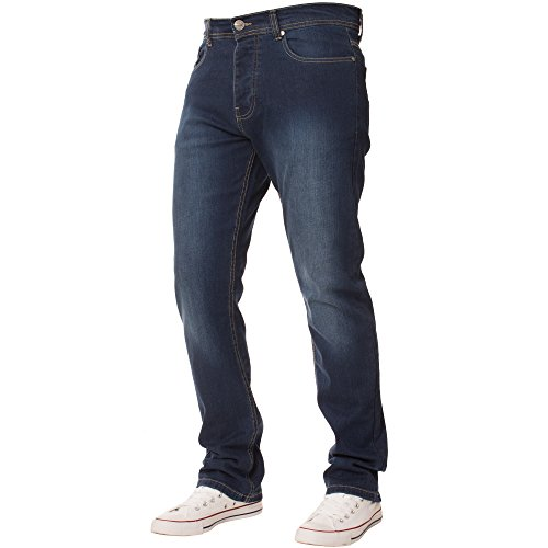 Dritta Denim Jeans Slavati Classici Fit Gamba Enzo Nuovo Da Uomo Stretch Regular Basic Medio SvHwAqBX