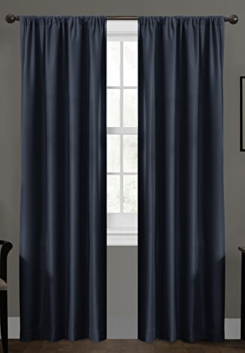 Certified 100 Percent Blackout Maytex Smart Curtains Ultimate Light Blocker Julius Window Panel, 50 x 63, Navy (Blocker Light)