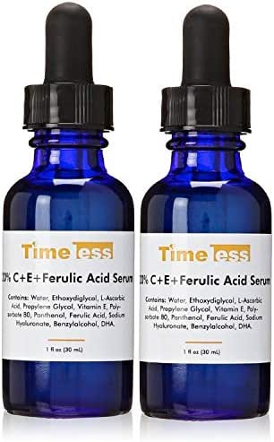 Timeless Skin Care 20 Percent Vitamin C Plus E Ferulic Acid Serum, 1 fl. oz. (Pack of 2)