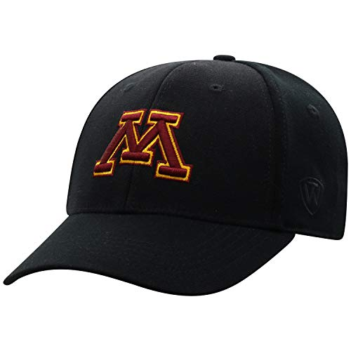 Top of the World Minnesota Golden Gophers Men's Memory Fit Hat Icon, Black, One - Wool Gophers Golden Minnesota