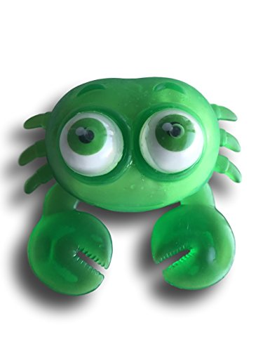 (Warehouse 151 Squishy Stretchy Squeeze Stress Office Desk Toy (Crab, Green))