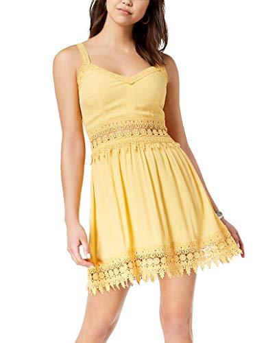 American Rag Juniors' Crochet-Trim Dress (Cornsilk, M) from AMERICAN RAG CIE