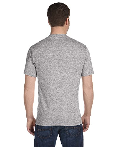 Hanes Men's 4Pack Crew Neck Tagless Black-Grey Undershirts Crewneck T-Shirt M ()