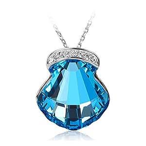 ZMC Women's Ocean Blue Pendant Necklace