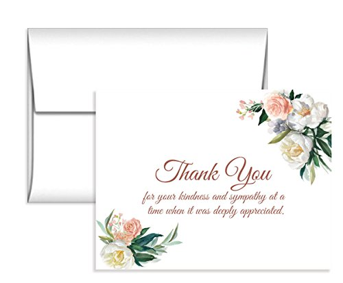 (Sympathy Acknowledgement Cards,Flat notes Includes envelopes)