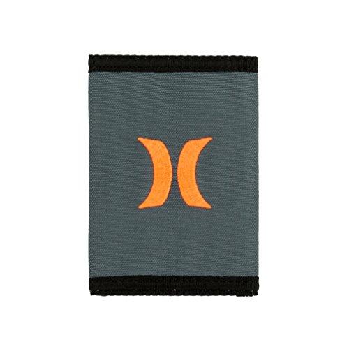 Hurley Men's Honor Roll Trifold Wallet (Grey/Black/Orange) ()