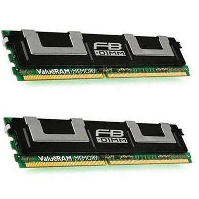 KINGSTON KVR667D2D4F5K2/8G 8gb kit (4gb x 2) match pair pc2-5300 667mhz cl5 ecc fully buffer (dual rank x4) 240-pin ddr2 fb-dimm (Mhz Dimm Ddr2 667 Fb Ecc)