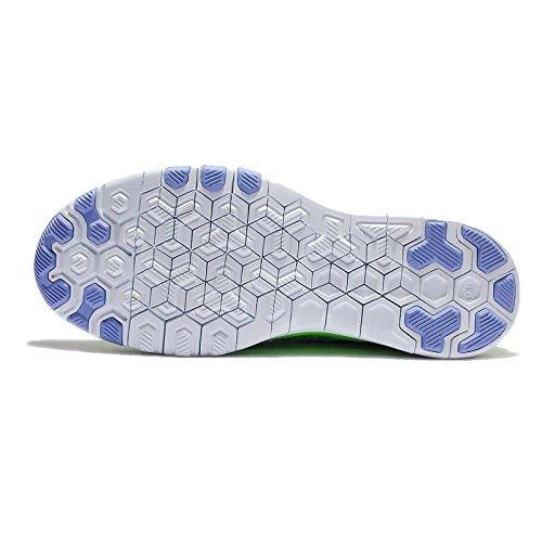 Nike Vrouwen Wmns Vrije Tr Flyknit (7,5, Voltage Groen / Wit Krijt Blue-diepe Koninklijke)