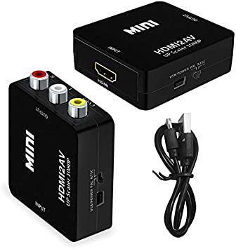 Yihua - Convertidor de Audio HDMI a RCA, Adaptador HDMI a AV, HDMI a RCA CVBs Compatible