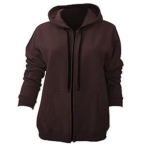 Gildan Ladies/Womens Heavy Blend Vintage Full Zip Hooded Sweatshirt / Hoodie (L) (Russet)