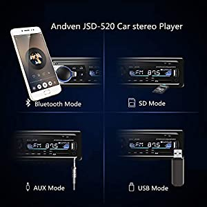 41HeKy0qm5L. SS300  - Andven-Hands-Free-Bluetooth-Car-Radio-Digital-Media-Receiver-4-x-60-W-1-DIN-Car-Radio-USB-SD-AUX-MP3-Player-Receiver-with-Remote-Control