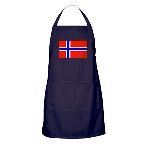 CafePress - Norway Norwegian Blank Flag Apron (Dark) - 100% Cotton Kitchen Apron with Pockets, Perfect Grilling Apron or Baking Apron