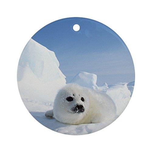- Ornament (Round) Harp Seal