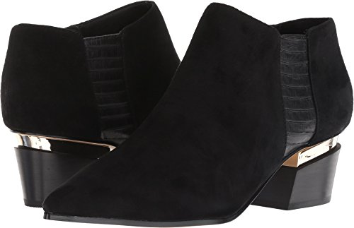Donna Karan Women's Blake Black Suede/Semi Shine Snake 7 M US M