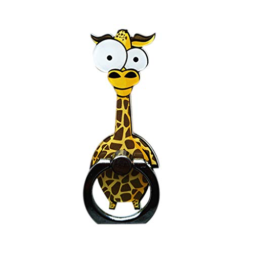 Sonmer Cartoon Ring Buckle Finger Stand For Cell Phone (Giraffe)