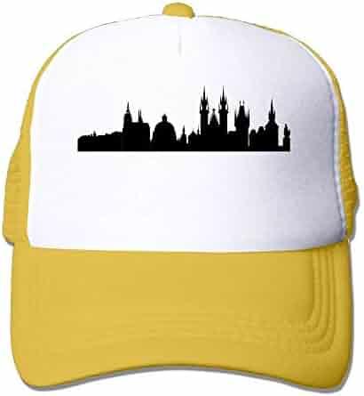 65c1480ed5084 Prague City Skylines Adjustable Sports Mesh Baseball Caps Trucker Cap Sun  Hats