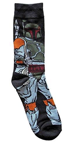 Hyp Star Wars Boba Fett Full Pose Men's Crew Socks Shoe Size 6-12]()