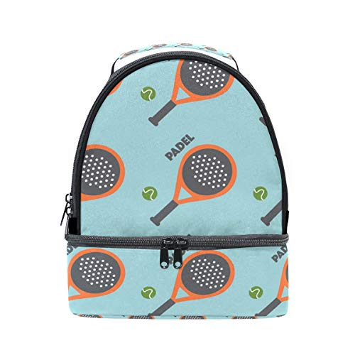 Amazon.com: LALATOP Double Decker Lunch Bag Tote Bag Padel Tennis Travel Picnic Lunch Handbags Portable Cooler Lunch Holder Box: Kitchen & Dining