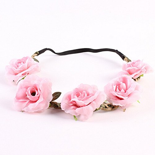 BUNITA,7pcs/lot Girl Wedding Handmade Flower Crown Beach Flower Wreath Bridal Headdress Women Headband Hairband Hair Band Accessories,flower crown gir…
