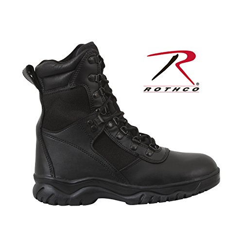 8' Waterproof Tactical Boot (Rothco 8'' Forced Entry Tactical Boot, Black, 9)