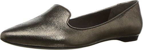 Donna Karan Women's Gold Loafer Pewter Crinkled Metallic 8 M US