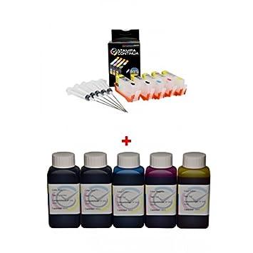 Cartuchos compatibles con HP 364XL + 5 botellas de tinta para ...