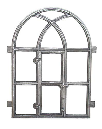 Cast iron new window frame antique style metal arched | Dimensions ...